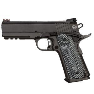 "Rock Island Armory Tac Series Ultra Mid-Size 1911 Semi Auto Pistol 10mm Auto 4.25"" Barrel 8 Rounds Fiber Front/Adjustable Rear Sights G10 Grips Parkerized Matte Black"