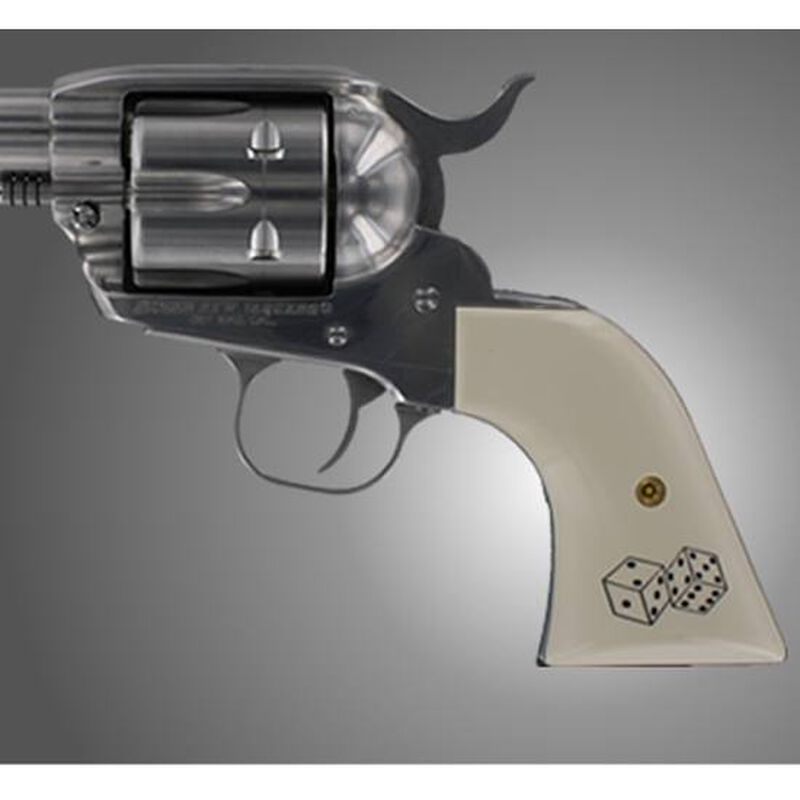 Hogue Cowboy Action Scrimshaw Grip Panels Ruger Blackhawk, New Vaquero  Polymer Ivory 79021
