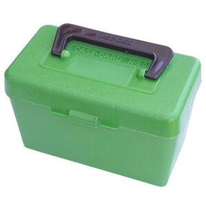 MTM Case-Gard Deluxe H-50 Series Rifle Ammo Box Medium Holds 50 Rounds Green H50-RM-10