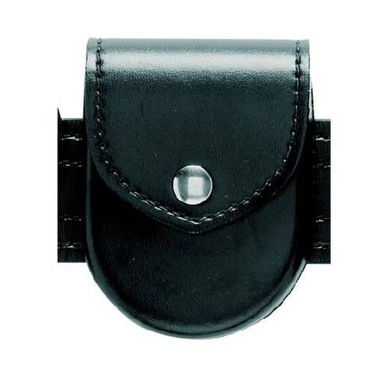 Safariland Model 90 Handcuff Pouch Top Flap Brass Snap Hi-Gloss Black 90-9B