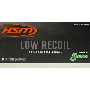 HSM Low Recoil 7mm Rem Mag Ammunition 20 Rounds 140 Grain Sierra SBT