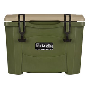 Grizzly Coolers Grizzly 15 Rotomolded 15 Quart Cooler Green/Tan