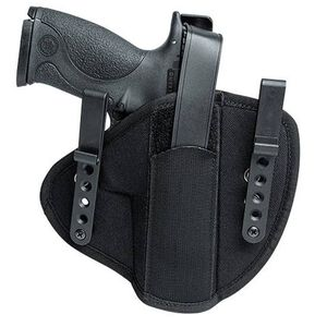 "Uncle Mike's Small/Medium Auto 3""-4"" Tuckable Inside Waistband Holster Size 1 Ambidextrous Nylon Black 55010"