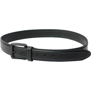 """Beretta Tactical Belt 1.5"""" Wide Leather with Rigid Insert Size 32"""" Brown"""