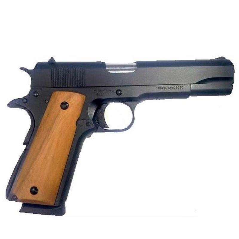 "TISAS ZIG M1911 Classic Semi Automatic Pistol .45 ACP 5"" Barrel 8 Rounds Plastic Grips Matte Black Finish GTZM11BL"