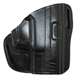 "Bianchi #58 P.I. Holster SZ1 S&W 36, 640 and similar J frame models (2"") Right Hand Plain Black Leather"