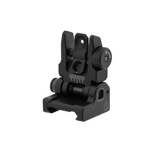 UTG ACCU-SYNC Spring-loaded AR-15 Flip-up Rear Sight, Black