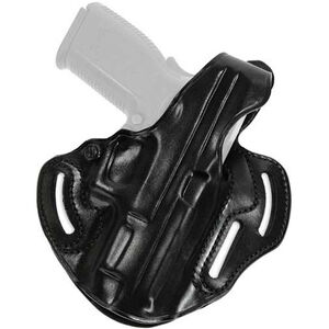 Galco Cop 3 Slot Belt Holster GLOCK 17/22/31 Right Hand Leather Black