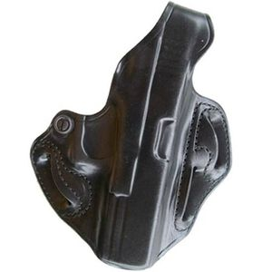 DeSantis Thumb Break Scabbard Belt Holster Ruger LCR Right Hand Leather Black Finish 001BAN3Z0