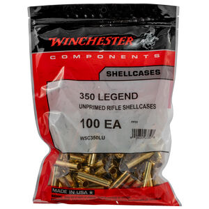 Winchester Components Unprimed Brass Cases .350 Legend 100 Count Per Bag