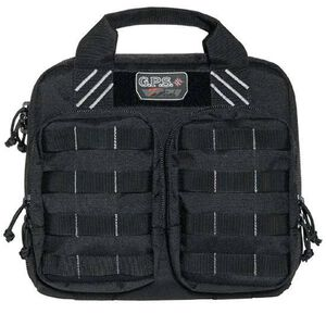 G Outdoors Incorporated Double Pistol Range Case Nylon Black GPS-T1412PCB