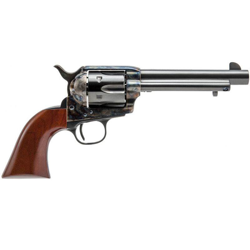"Cimarron Model P Revolver 45 Colt 5 1/2"" Barrel 6 Rounds Walnut Grips Case Hardened and Standard Blue Finish"