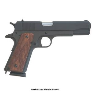 "Cimarron 1911 A1 Semi Automatic Pistol .45 ACP 5"" Barrel 8 Round Capacity Checkered Wood Grip Blued Finish 1911P"