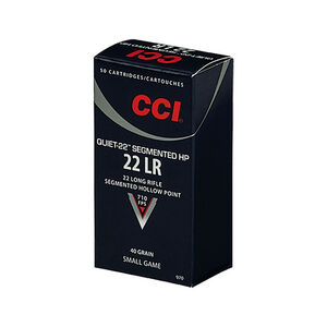 CCI Quiet-22 .22 LR Sub-Sonic Ammunition 40 Grain Segmented HP 710fps 50 Rounds