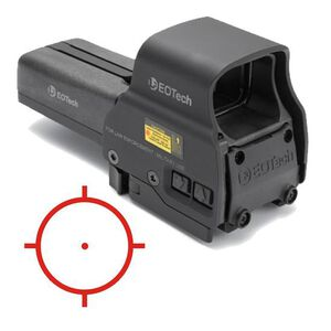 EOTech 518 Holographic Weapon Sight 65 MOA Ring/One MOA Dot Quick Detach Mount AA Batteries Picatinny Black 518.A65