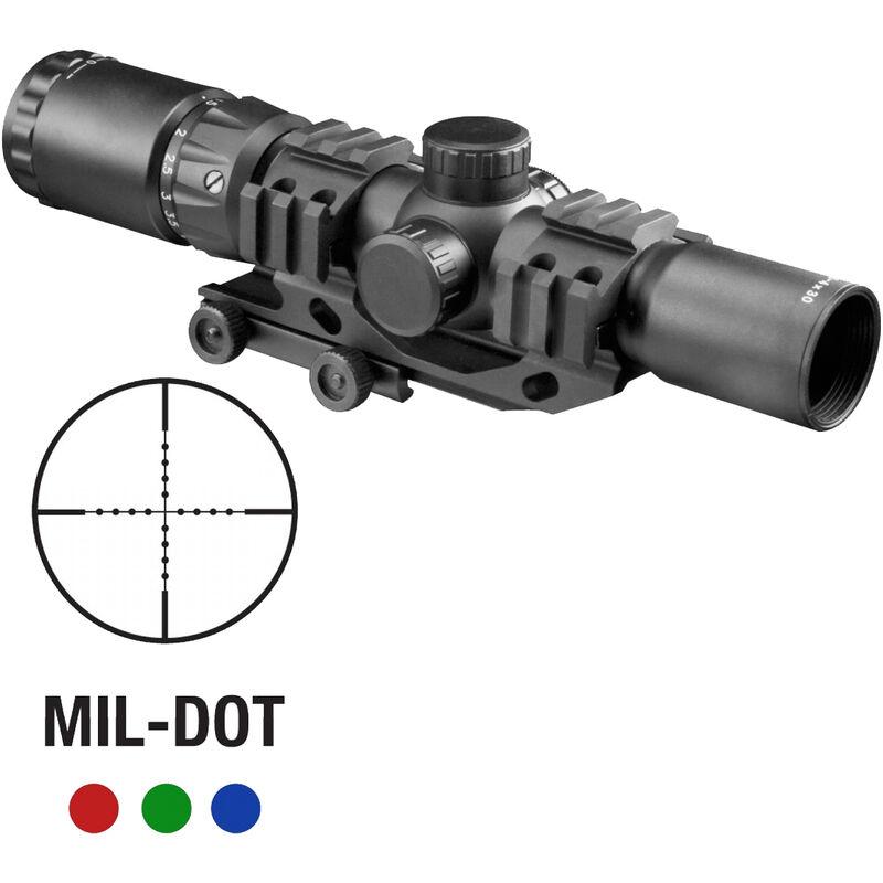 Aim Sports Recon Series 1 5-4x30mm Tactical Rifle Scope Illuminated Mil-Dot  Reticle 30mm Tube Aluminum Black