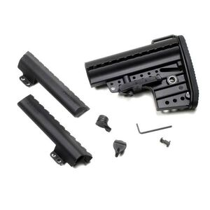 Vltor IMOD Improved Modstock Mil-Spec Clubfoot Black with Battery Storage and Butt Pad, AR-15