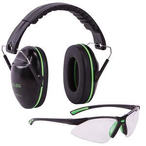 Allen Gamma Junior Shooting Passive Earmuff & Safety Glasses Combo Kit Black/Green