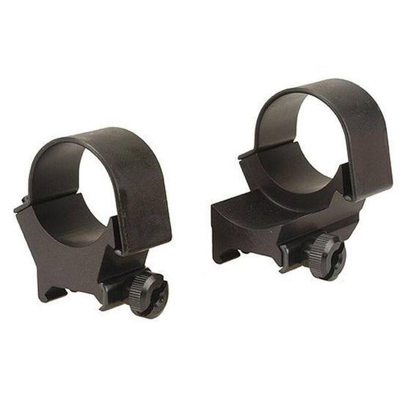 Weaver 30mm Detachable Top-Mount Extension Rings High Black Matte 49152