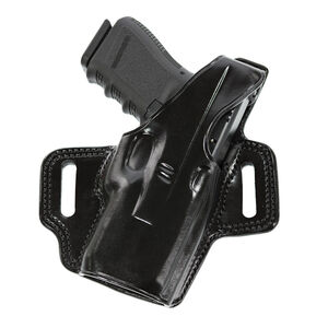 Galco Fletch High Ride Belt Holster for Glock 19 w/XC1 Compact Right Hand Leather Black
