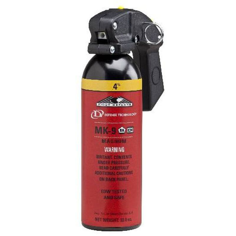 Defense Technology Law Enforcement Grade Pepper Spray 12.0 Ounce MK-9 .4% Yellow 5299