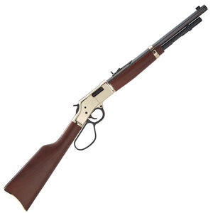 "Henry Big Boy Carbine Lever Action Rifle .357 Magnum/.38 Special 16.5"" Octagon Barrel 7 Rounds Polished Hardened Brass Receiver Large Loop Lever American Walnut Stock Blued Barrel"