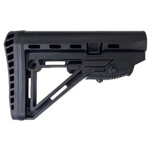 XTS AR-15 XTS-105 Enhanced Collapsible Stock Mil-Spec Buffer Polymer Black