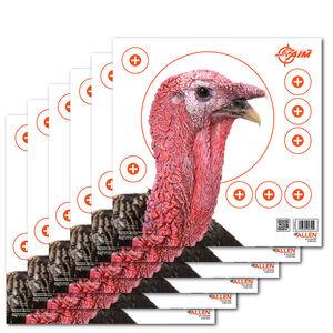 """Allen Company EZ Aim Four Color Patterning Turkey Target 12""""x12"""" 6 Pack"""