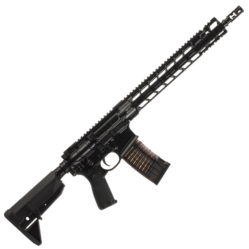 "Primary Weapons Systems MK114 Mod 2-M Semi Auto Rifle .223 Wylde 14.5"" Barrel Pinned/Welded Muzzle Device 30 Rounds PicLok Free Float Hand Guard Matte Black"
