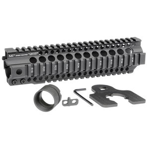 "Midwest Industries AR-15 Combat Rail T-Series 9.5"" One Piece Free Float Hand Guard 6061 Aluminum Hard Coat Anodized Matte Black Finish"