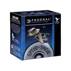 "Federal 20 Gauge Ammunition 250 Rounds 3.00"" #4 Steel Shot 0.875 oz."