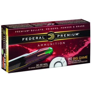 Federal Trophy Copper .30-30 Winchester Ammunition 20 Rounds Lead Free PT 150 Grains P3030TC1