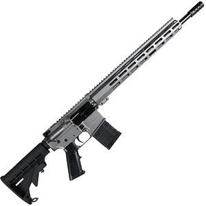 "Great Lakes .450 Bushmaster AR-15 Semi Auto Rifle 18"" Barrel 5 Rounds 15"" Free Float M-LOK Handguard Collapsible Stock Gray Cerakote Finish"