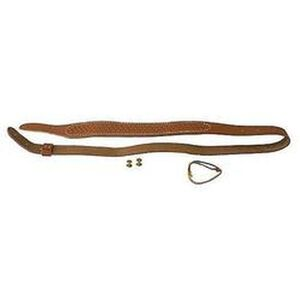 "Butler Creek Cobra Rifle Sling 36"" Basket Weave Leather Brown 2641-2"