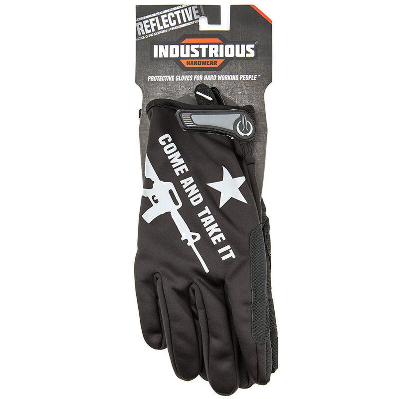 """Industrious Handwear """"Come & Take It"""" Reflective Gloves, Extra Small"""