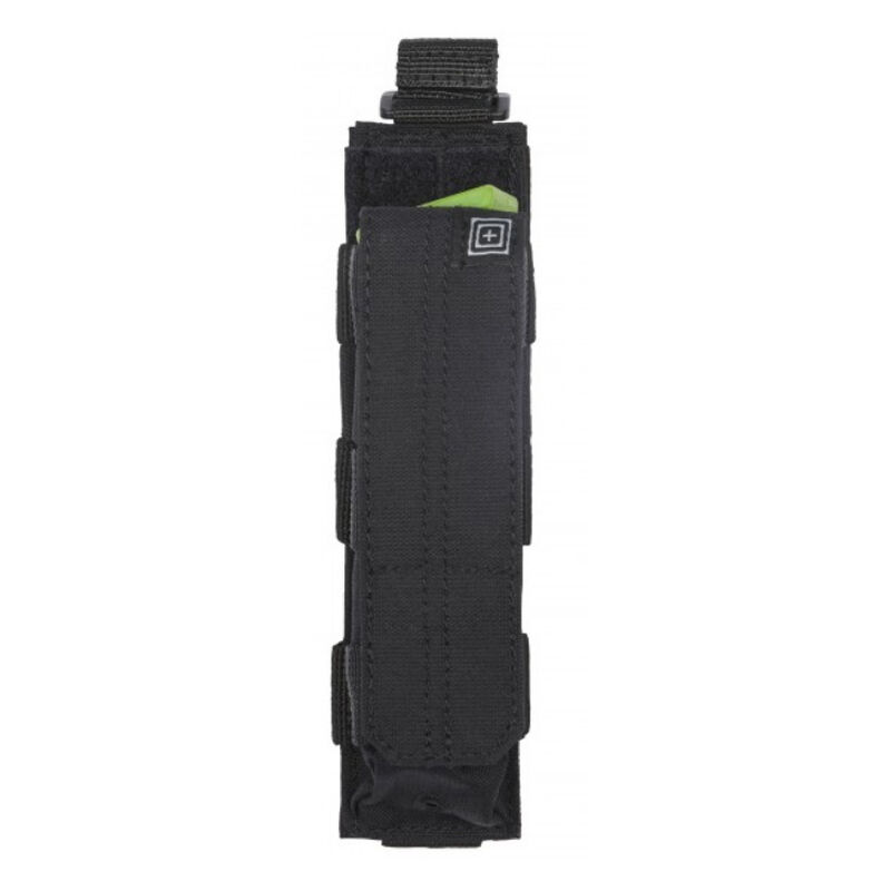 5.11 Tactical MP5/9mm Stick Style Single Bungee Cover Magazine Pouch 5.11 SlickStick/MOLLE Web Gear Compatible Nylon Matte Black Finish