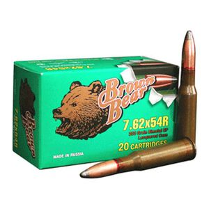 Brown Bear 7.62x54R 203 Grain Bi-Metal SP 20 Round Box