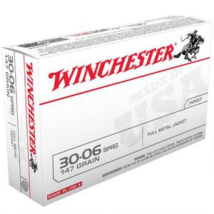 Winchester USA .30-06 Springfield Ammunition 20 Rounds FMJ 147 Grains USA3006