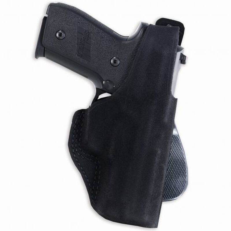 """Galco Paddle Lite Ruger SP101 3"""" Paddle Holster Right Hand Leather/Polymer Black PDL164B"""