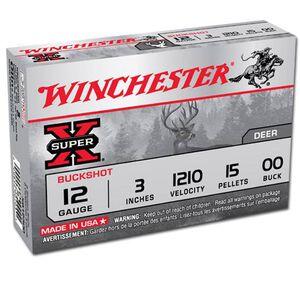 """Winchester Super X 12 Gauge 3"""" 00 Buck Five Round Box"""