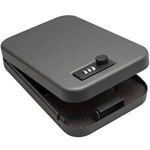 SnapSafe Lock Box 3 Digit Combination Large Black Steel 75230
