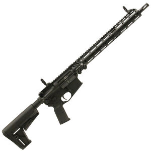 "Adams Arms P2 AR-15 Semi Auto Rifle 5.56 NATO 16"" Barrel No Magazine Adjustable Gas Block Free Float Hand Guard Collapsible Stock Matte Black Finish"