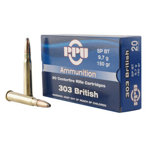 Prvi Partizan PPU .303 British Ammunition 20 Rounds 150 Grain Soft Point Boat Tail 2690fps