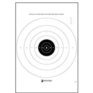 """Action Target B-8 25-Yard Timed and Rapid Fire Pistol Target 21""""x24"""" Paper Target 100 Pack"""