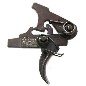 Geissele Automatics AR-15/AR-10 Super Semi-Automatic (SSA) Trigger Two Stage 4.5 LBS Non-Adjustable Steel Black 05-101