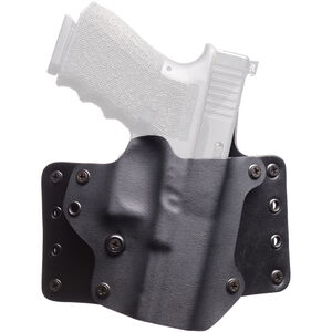 BlackPoint Leather WING OWB Holster SIG P320 Full Size Right Hand Leather/Kydex Hybrid Black