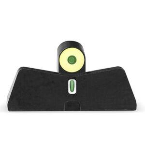 XS Sights DXT2 Big Dot Night Sights S&W M&P Shield Models Green Tritium Front With Yellow Ring/Tritium Stripe Rear Matte Black