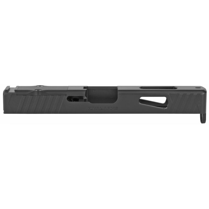 Rival Arms Precision Upgrade Slide Fits GLOCK 17 Gen 4 Models RMR Ready Optic Cut CNC Machined 17-4PH Stainless Steel Billet Matte Black Finish