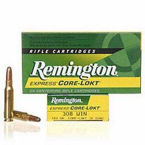 Remington Express .308 Winchester Ammunition 20 Rounds 180 Grain Core-Lokt Soft Point Projectile 2620fps