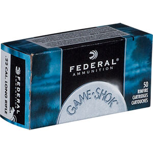 Federal .22 LR Ammunition 50 Rounds #12 Lead Shot